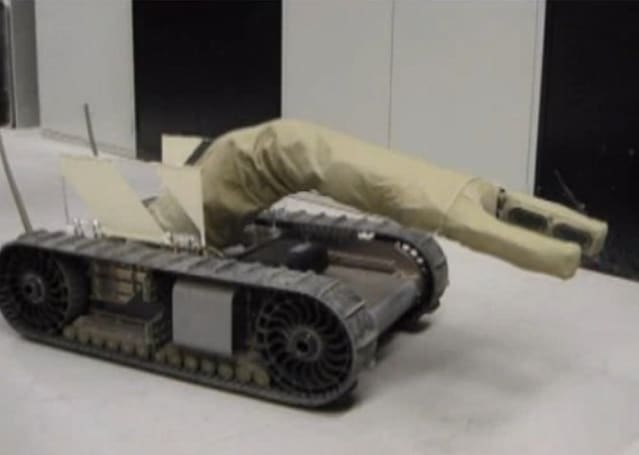 iRobot's AIRarm prototype bot has an inflatable arm for manipulating objects, was built at DARPA's behest