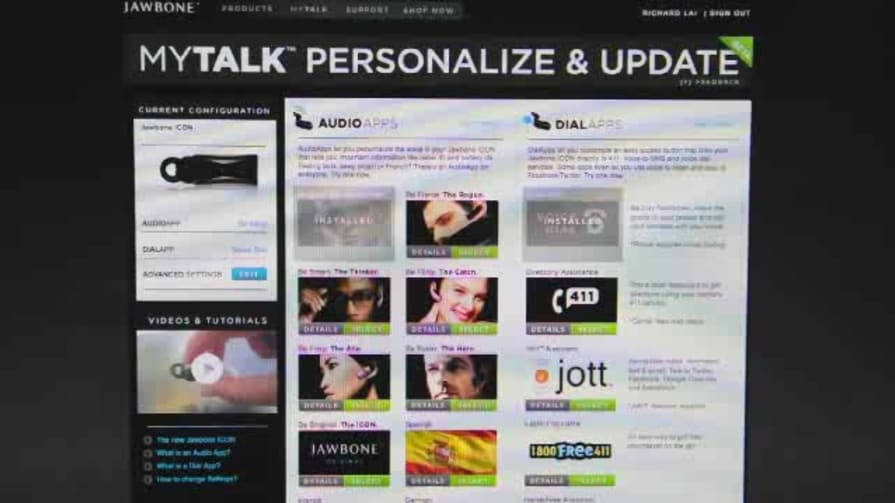 Jawbone MyTALK Website Walkthrough