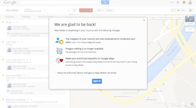 Google Map Maker returns to the US, UK and over 40 other countries