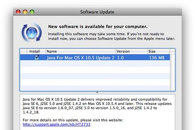 Java for Mac OS X 10.5 Update 2