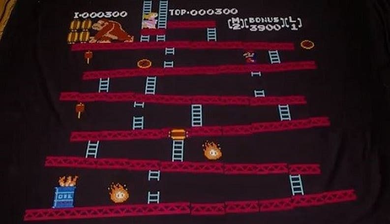 Stop motion Donkey Kong video collects umbrellas