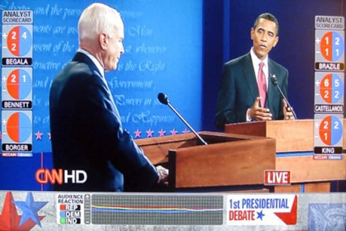 CNN adds live debate feedback for widescreen HD viewers