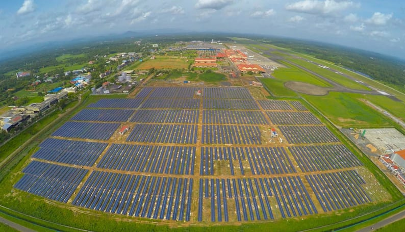 Indian airport now runs entirely on solar power