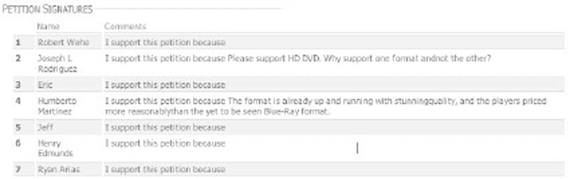 Want HD DVD to gain more studio support? Sign these petitions
