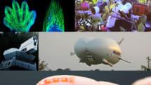 世界最大のケツ型航空機・真空リンゴ収穫ロボ・光で這う極小ロボット(画像ピックアップ46)