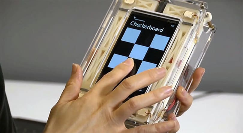 Microsoft wants its smartphone screens to touch you back