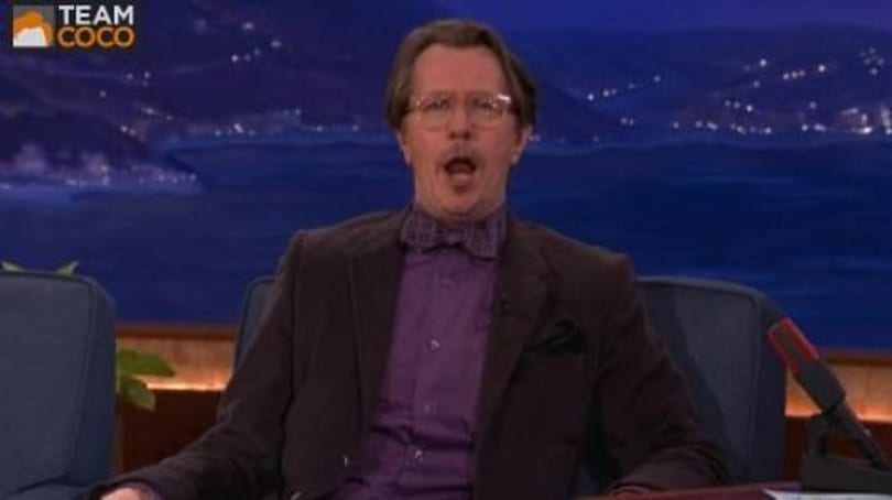 Gary Oldman spits out a few Reznov lines on Conan, in a bowtie