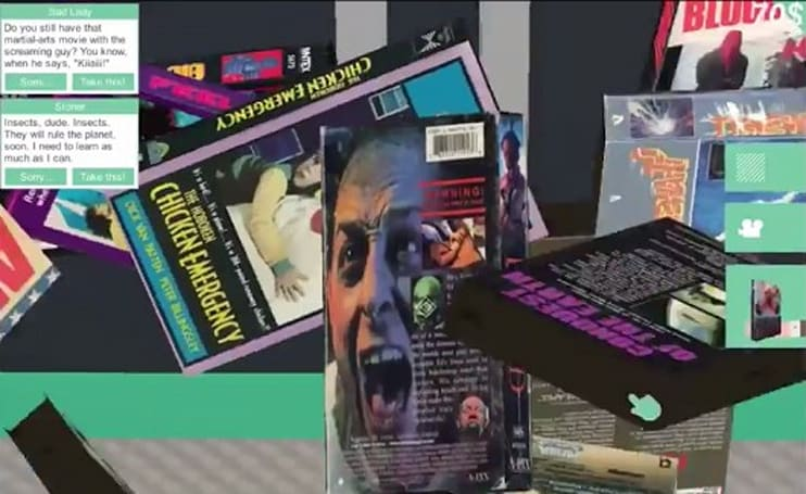 Santa Ragione's VHS rewinds movie-selection sims at Fantastic Arcade
