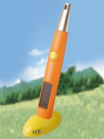 The solar powered lighter flings sparks without fuel