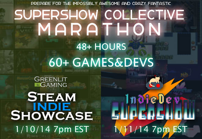 See hot indie game action (and cake) in the Supershow Collective marathon
