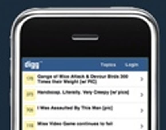 Digg releases official iPhone interface