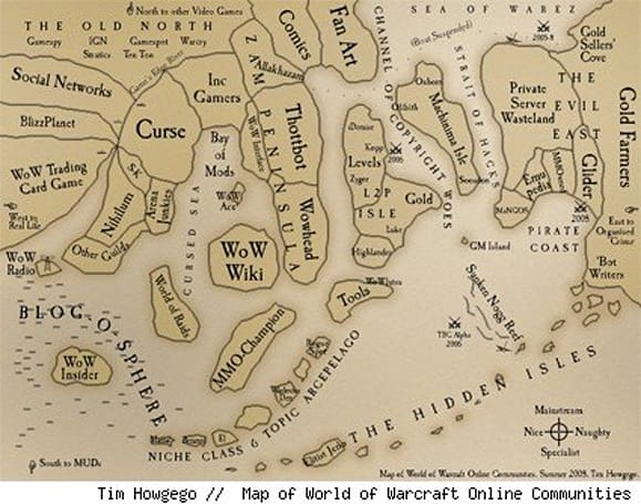 The geography of WoW space
