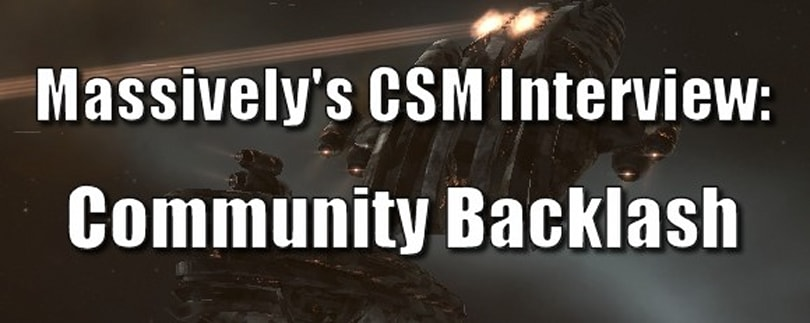 Massively's EVE Online CSM Interview -- Community backlash