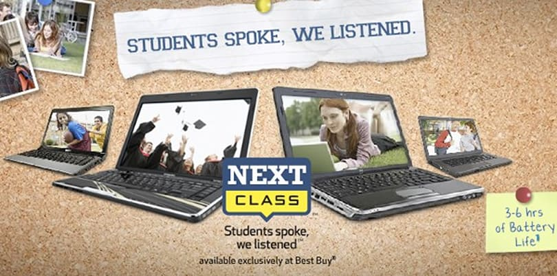 Best Buy gears up for back to school crowds with Next Class-branded laptop series