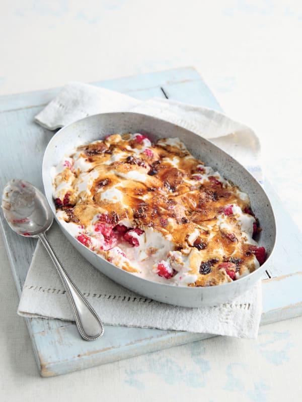 Raspberry Yogurt Gratin recipe