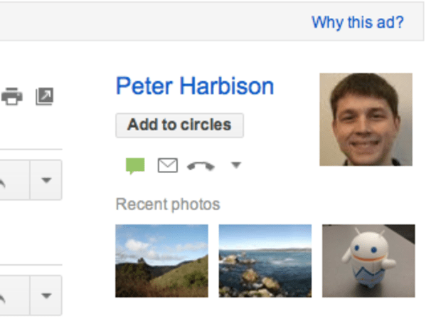 Google updates Gmail's 'people widget,' now includes previous images
