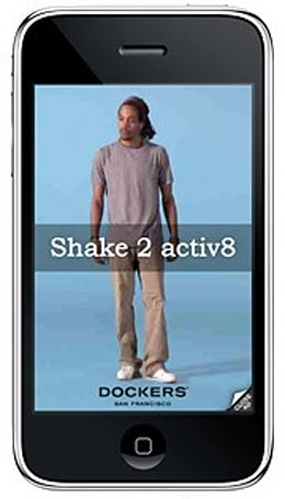 Dockers shakes up mobile ad space with motion-sensitive iPhone plugs