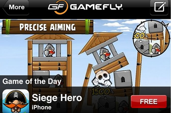 GameFly adds 'Game of the Day' to mobile app, features free and discounted iOS games
