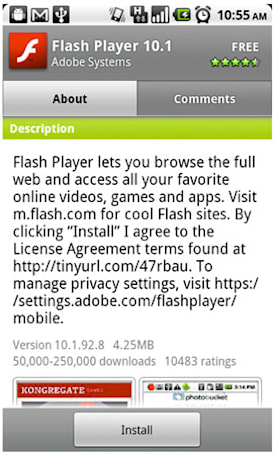 Flash Player 10.1 goes final for Nexus One handsets, available to download now