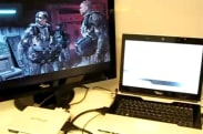 Video: Fujitsu Siemens' GraphicBooster plays Crysis, probably blends