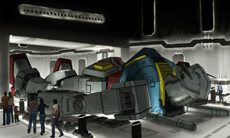 Full-size Gundam created for GUNDAM CRISIS attraction