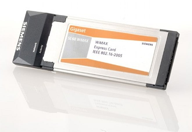 Siemens' Gigaset SE68 WiMAX ExpressCard arrives before the network