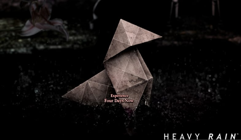 Heavy Rain official site launches, announces 'Four Days Challenge'