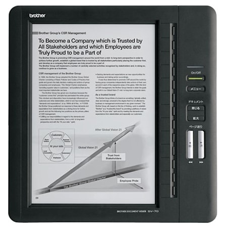 Brother's SV-70 e-book reader is a little bit cheaper, still $1,100