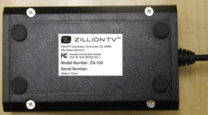 ZillionTV's ZBar and ZRemote crash down in FCC's database