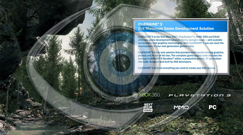 CryEngine 3 released; box of tissues not included