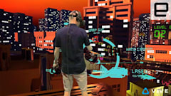 Using the HTC Vive with a green screen lets others follow along