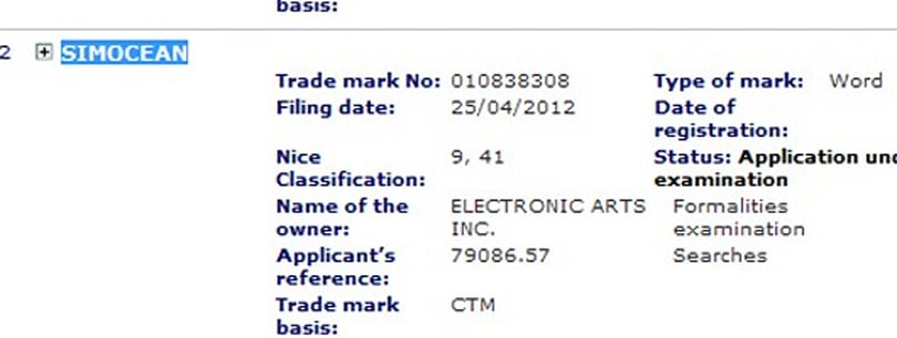 EA files trademark for 'SimOcean'