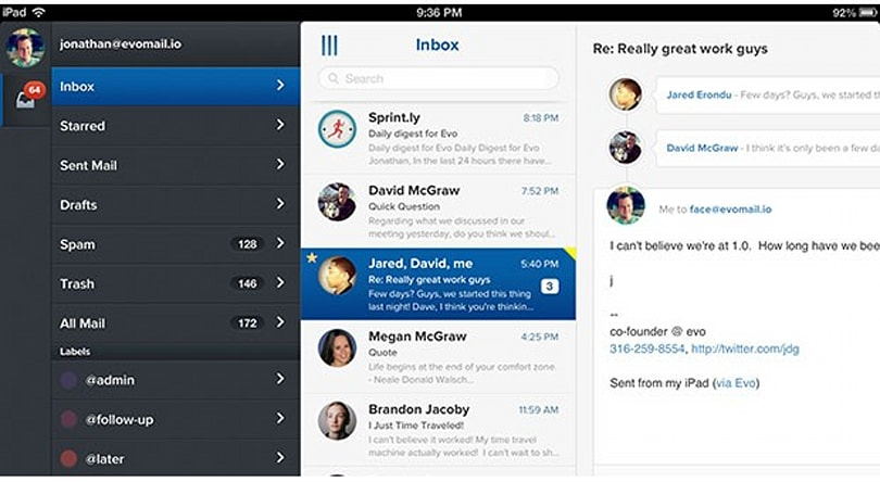 Evomail for iPad set to enter the fray for control of your Gmail inbox