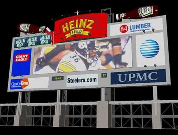 Pittsburgh's Heinz Field to get $2.4 million HD scoreboard in 2007
