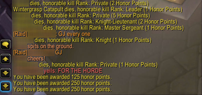 Wrath 101: Honor points