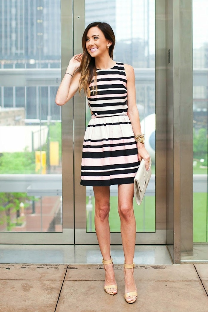 Street style tip of the day: Striped sundress