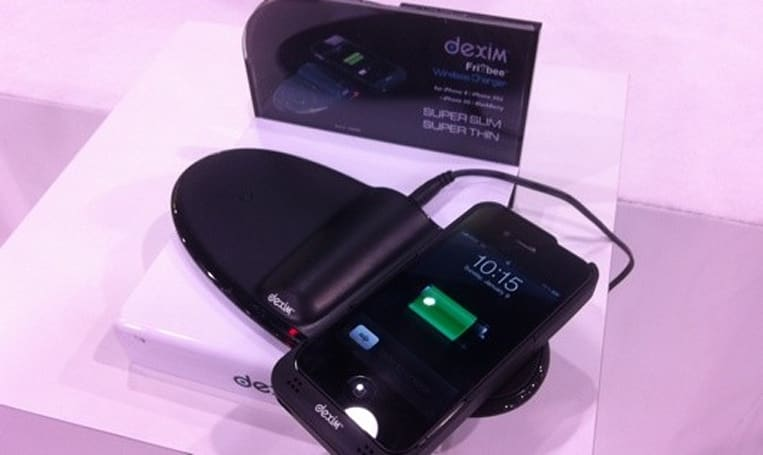 Dexim's Frixbee and Visible G chargers on display at CES 2011