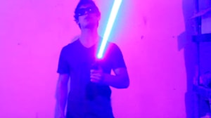 Homemade laser lightsaber is as risky as it looks