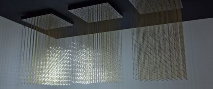 Swarm Light is an $180k LED chandelier controlled by an iPhone