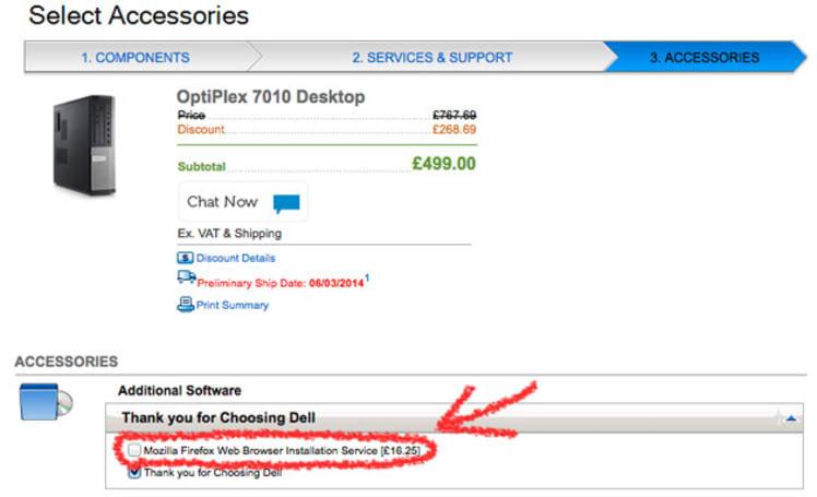 Dell charging EU customers for Firefox installation, Mozilla's not having it