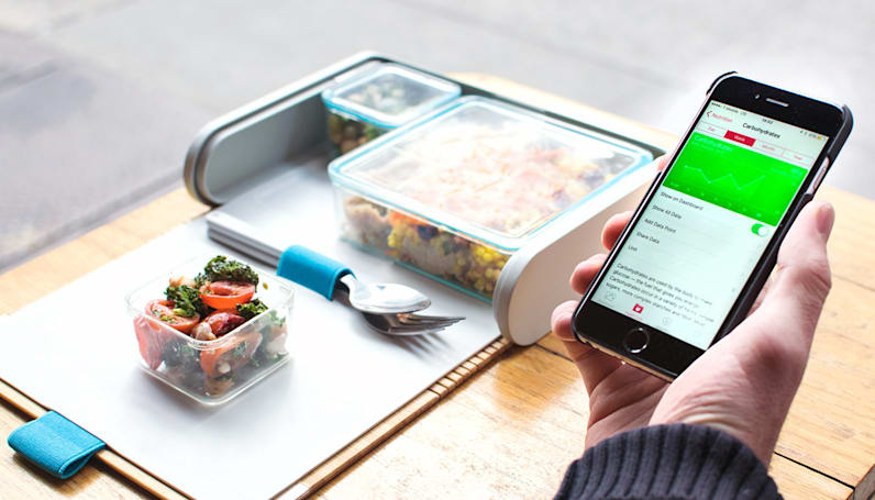 Calorie counting made easier with this pretty lunch box