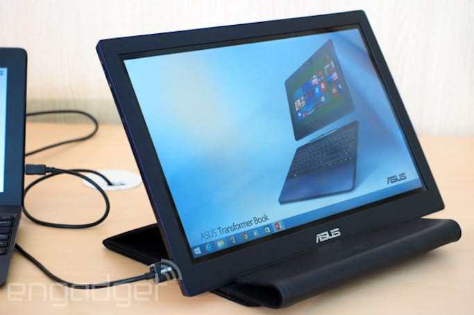 ASUS shows off a 14-inch USB touchscreen monitor