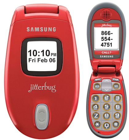 Samsung launches Jitterbug J in Red at CES