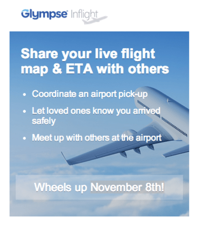 Glympse adds in-flight tracking to its location-sharing service