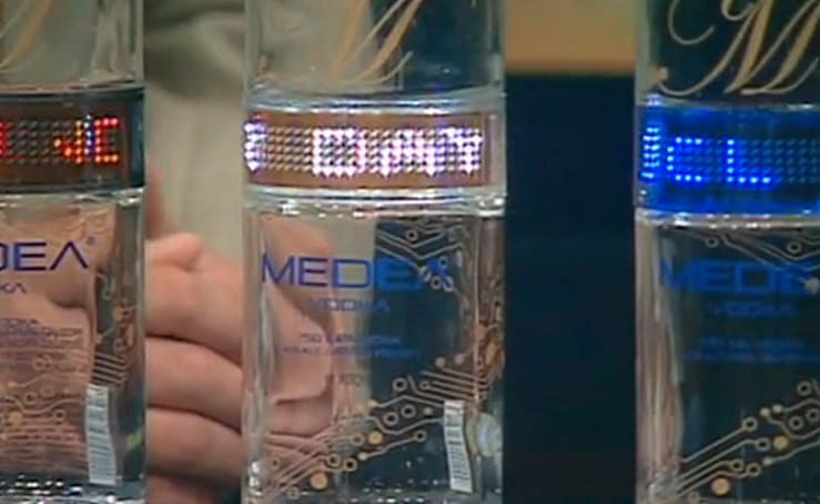 Medea Vodka (and its radical programmable LED bottle) now ready to party