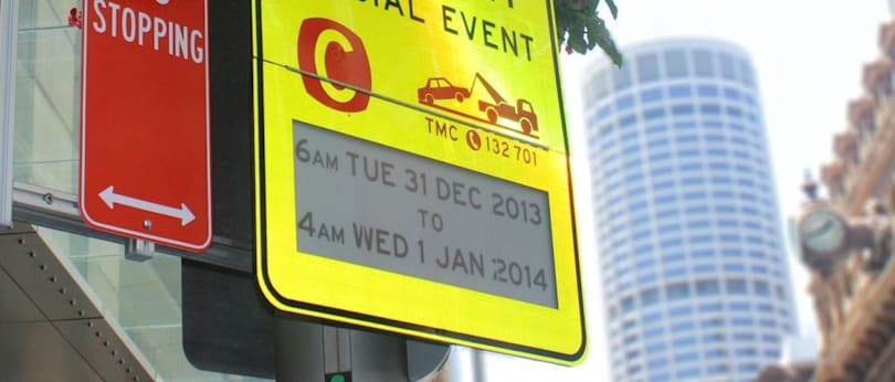 Sydney gets world's first e-ink traffic signs