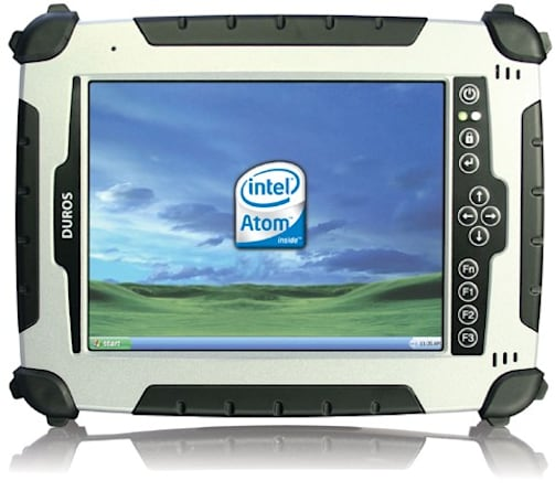 Rugged Duros 8404 tablet PC: now with Atom, sunlight-viewable LCD