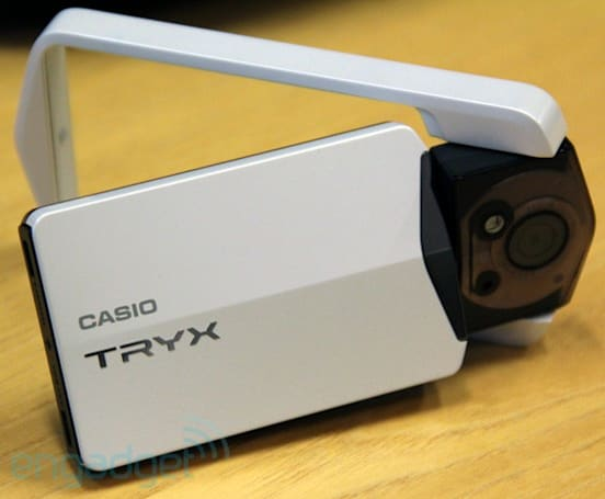 Casio's Tryx pocket camera takes a stand (literally) alongside new Exilim lineup