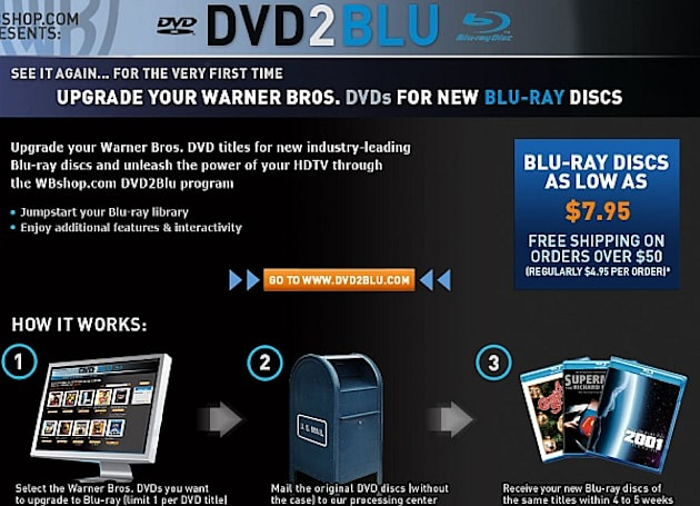 Warner's DVD2Blu trade-in swaps Blu-rays for your DVDs, Leland Gaunt approves