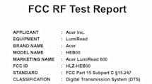 Acer's LumiRead 600 hits the FCC with slow bursts of 2.4GHz radiation